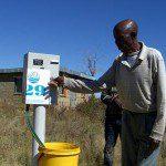 Prepaid-Wasserzähler in Südafrika