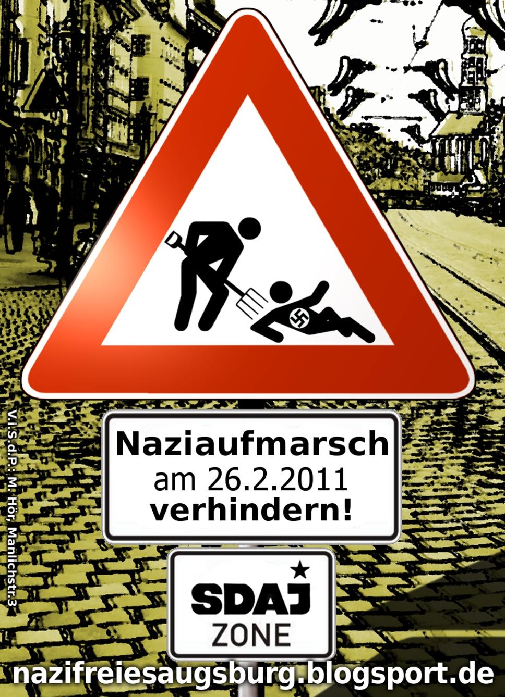 Augsburger SDAJ-Vorsitzender von Nazis angezeigt