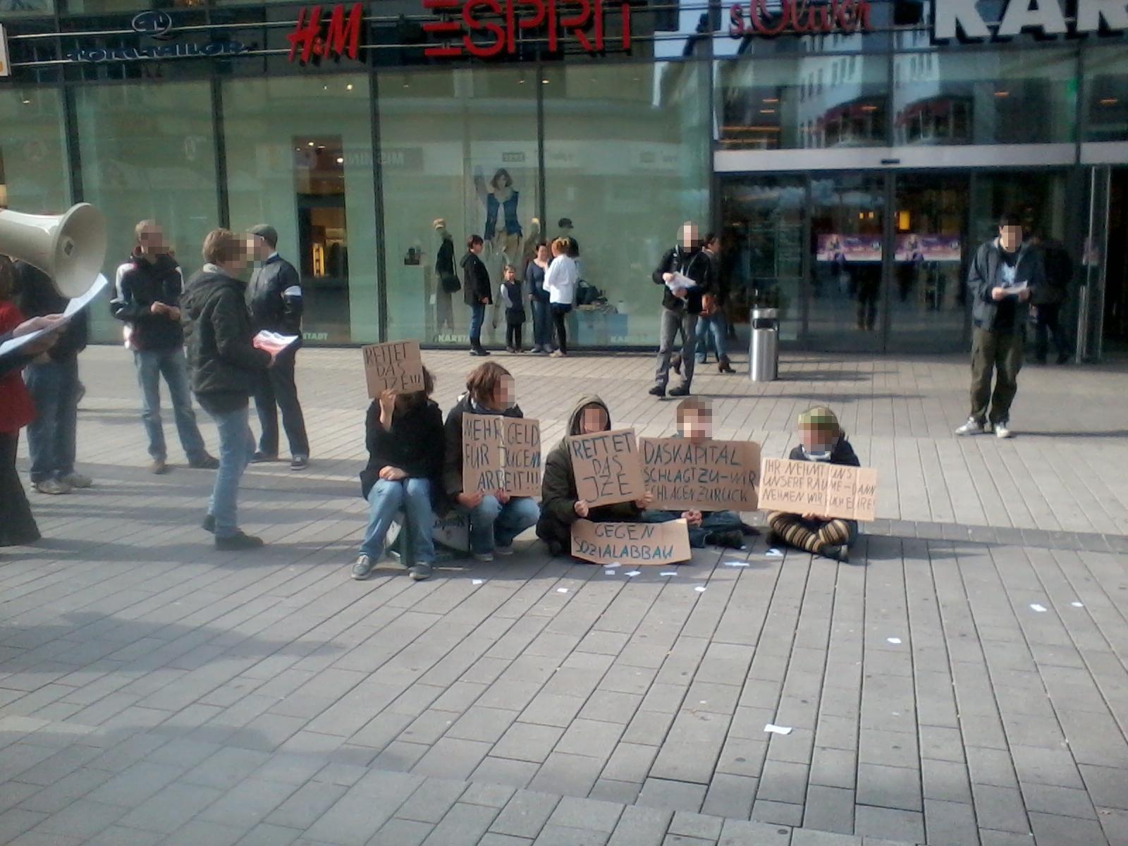 Essen: Aktion im Rahmen des Gruppenleitungstreffens