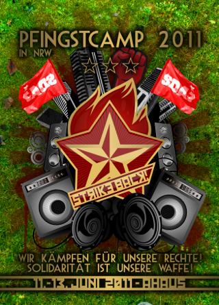 """Pfingstcamp NRW: """"Strike Back! Wir kämpfen für unsere Rechte – Solidarität ist unsere Waffe!"""""""