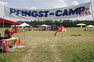 Campeingang des Westcamps in Ahaus, NRW