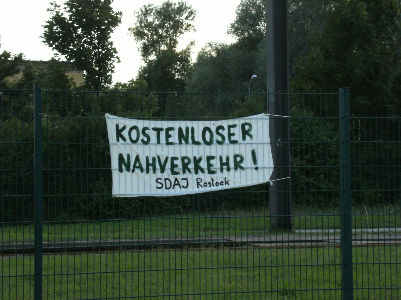 """Rostock: """"An alle Fahrgäste!"""""""