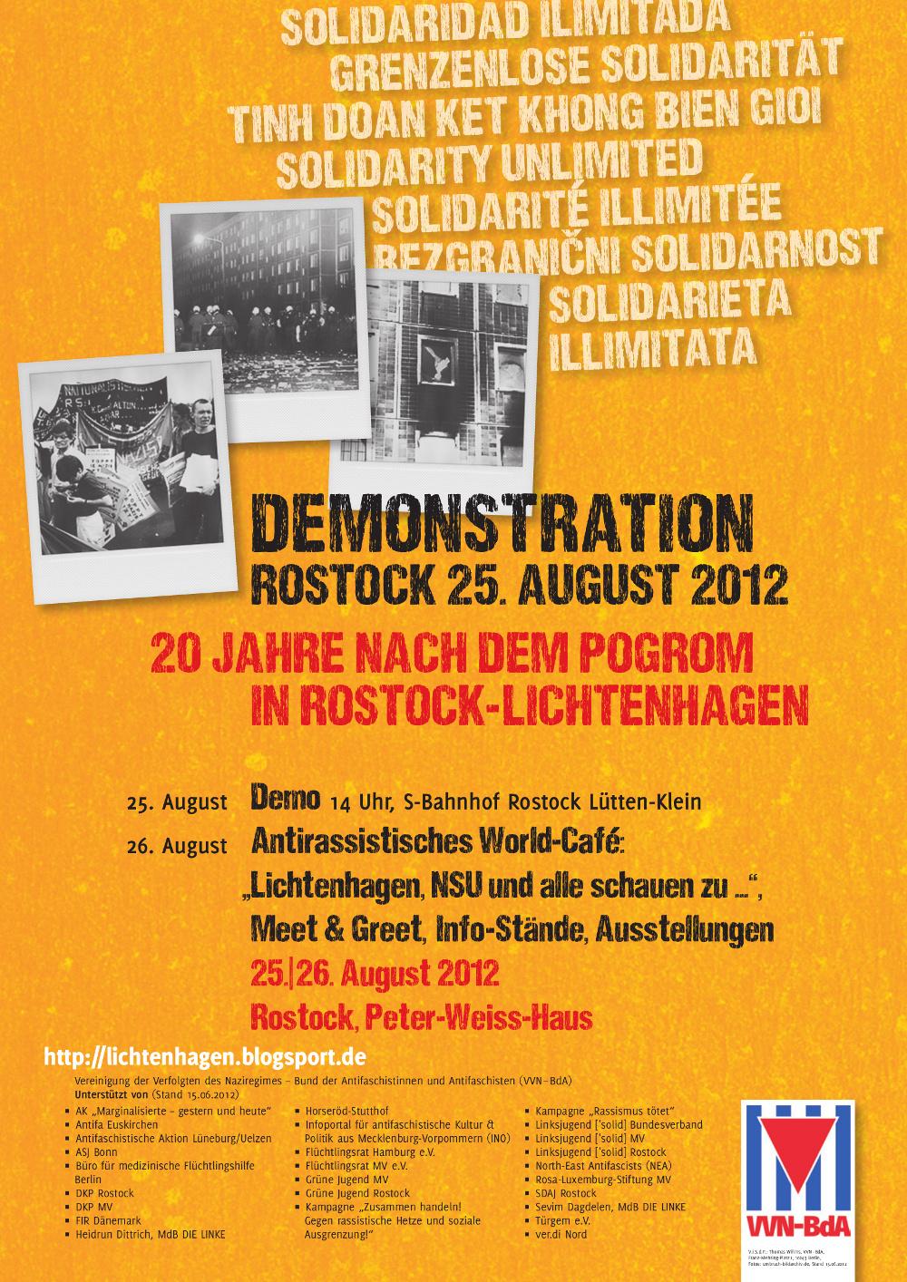 Rostock-Lichtenhagen: Grenzenlose Solidarität!