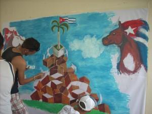 Wandgemälde auf Cuba