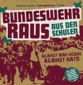 """CD """"Bundeswehr raus aus den Schilen"""" mit Linksjugend solid - Vorderseite"""