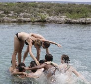 Einmal ins Wasser springen lassen wir uns nicht nehmen