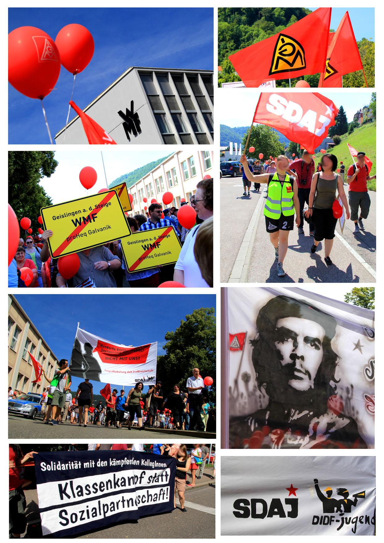 Tübingen: Solidarität mit der kämpfenden Belegschaft bei WMF!