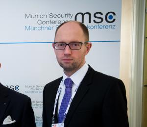 Der ukrainische Ministerpräsident auf der Münchner Sicherheitskonferenz 2014  (Foto: Marc Müller, securityconference.de)