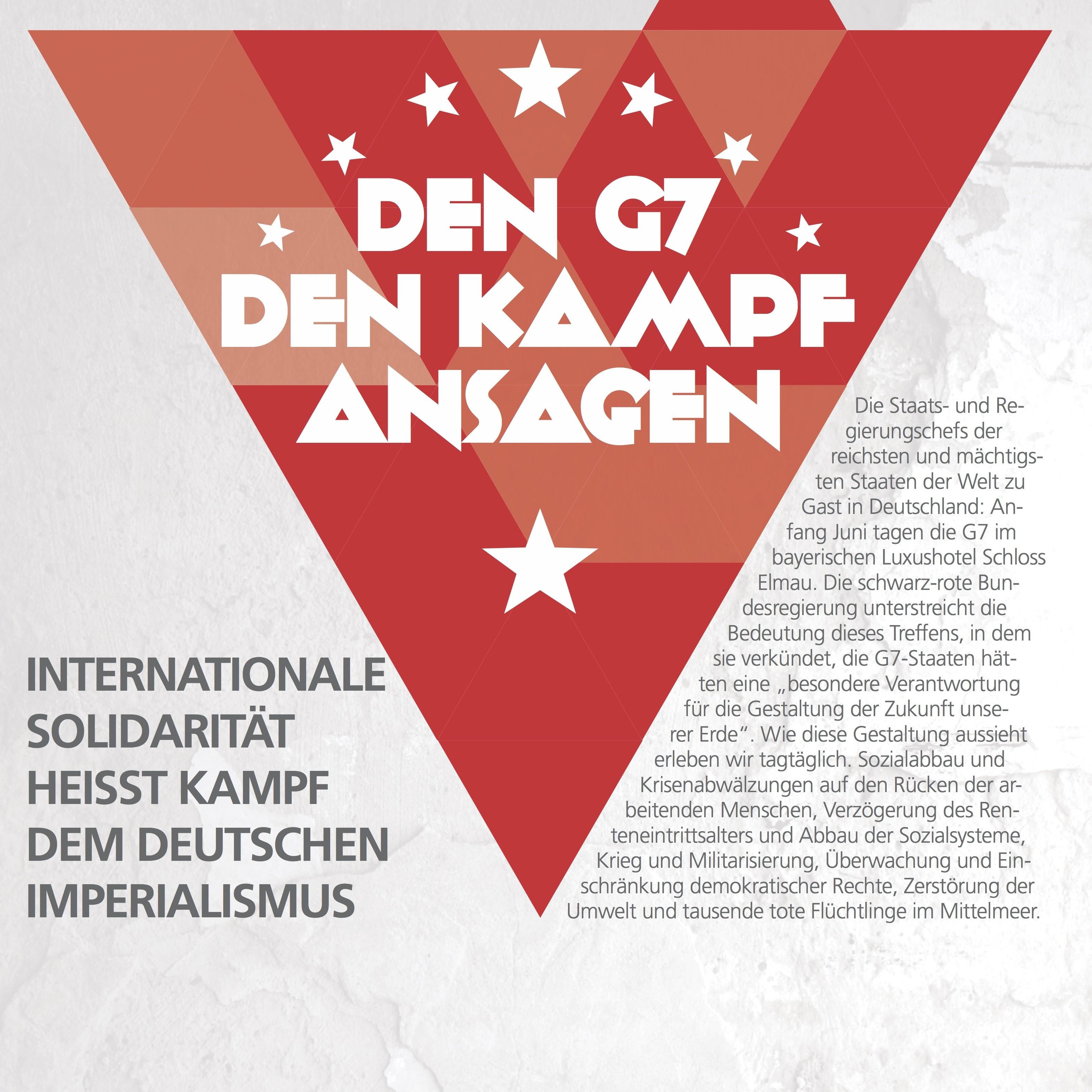 Aktiv werden gegen den G7-Gipfel im bayerischen Elmau