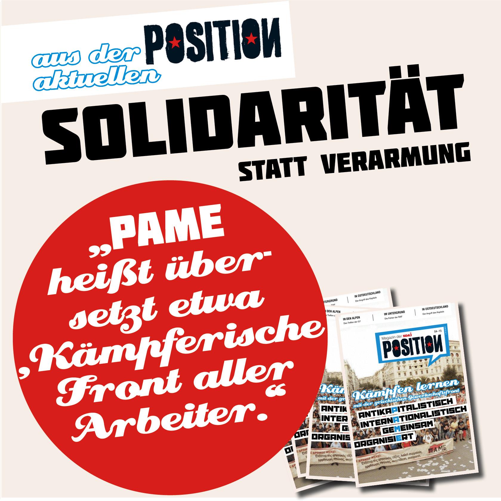 Solidarität statt Verarmung