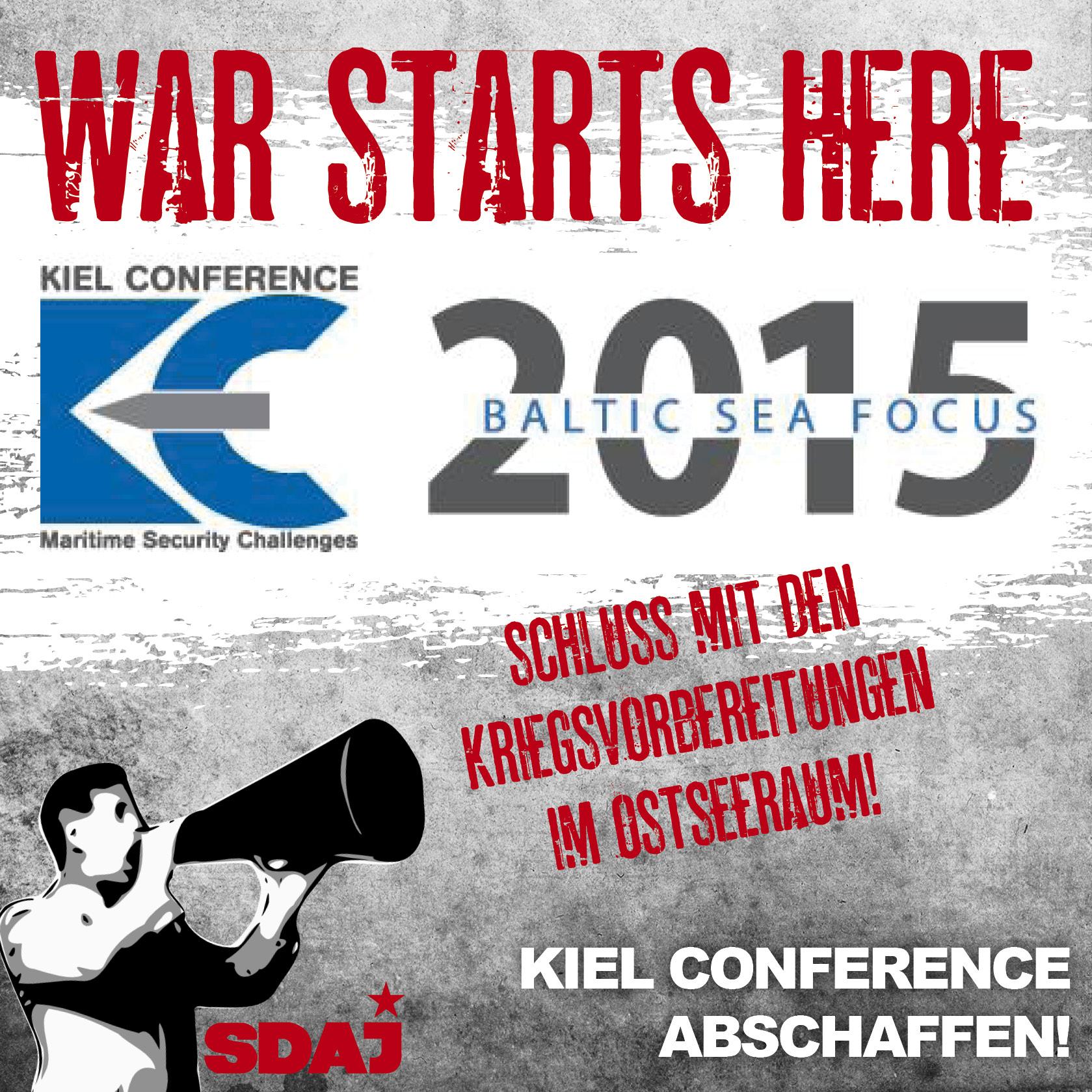 Demonstration gegen Kieler Kriegskonferenz – militärischen Machtausbau gen Osten stoppen!