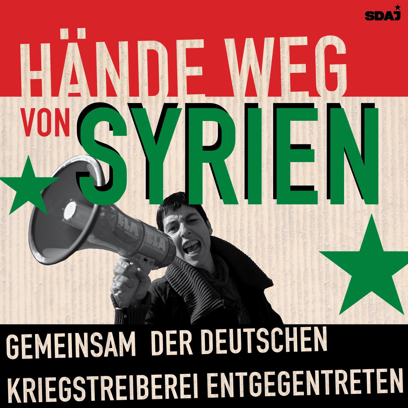Stoppt den Krieg! – Keine deutschen Soldaten nach Syrien!