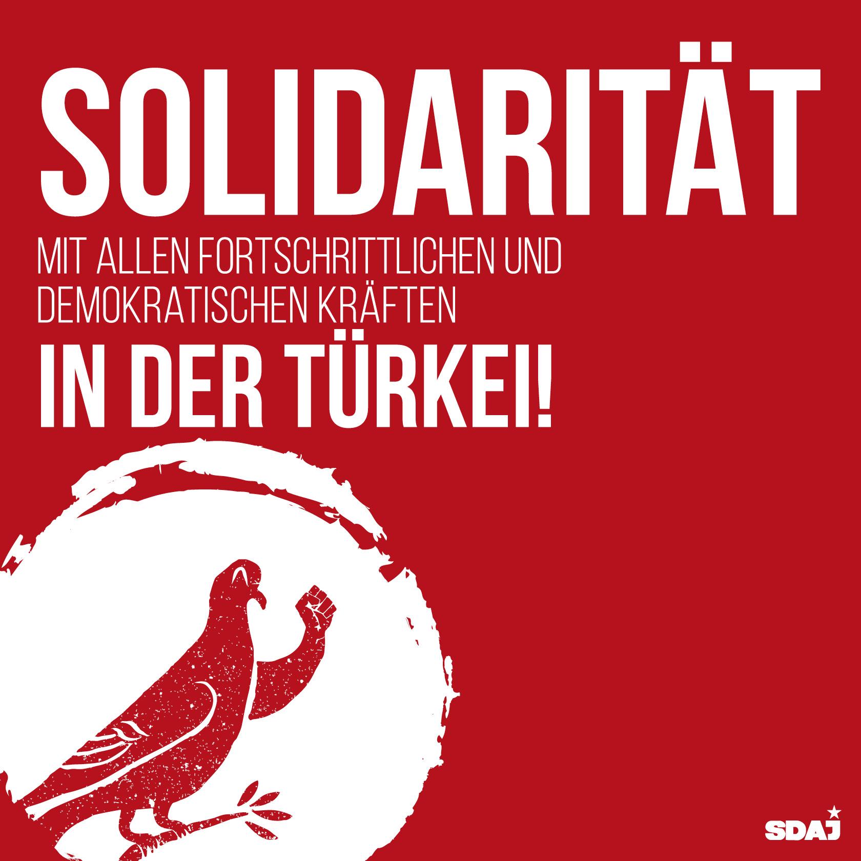 Solidarität mit allen fortschrittlichen und demokratischen Kräften in der Türkei
