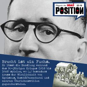 """Spickzettel: Brecht's """"Mutter Courage"""""""