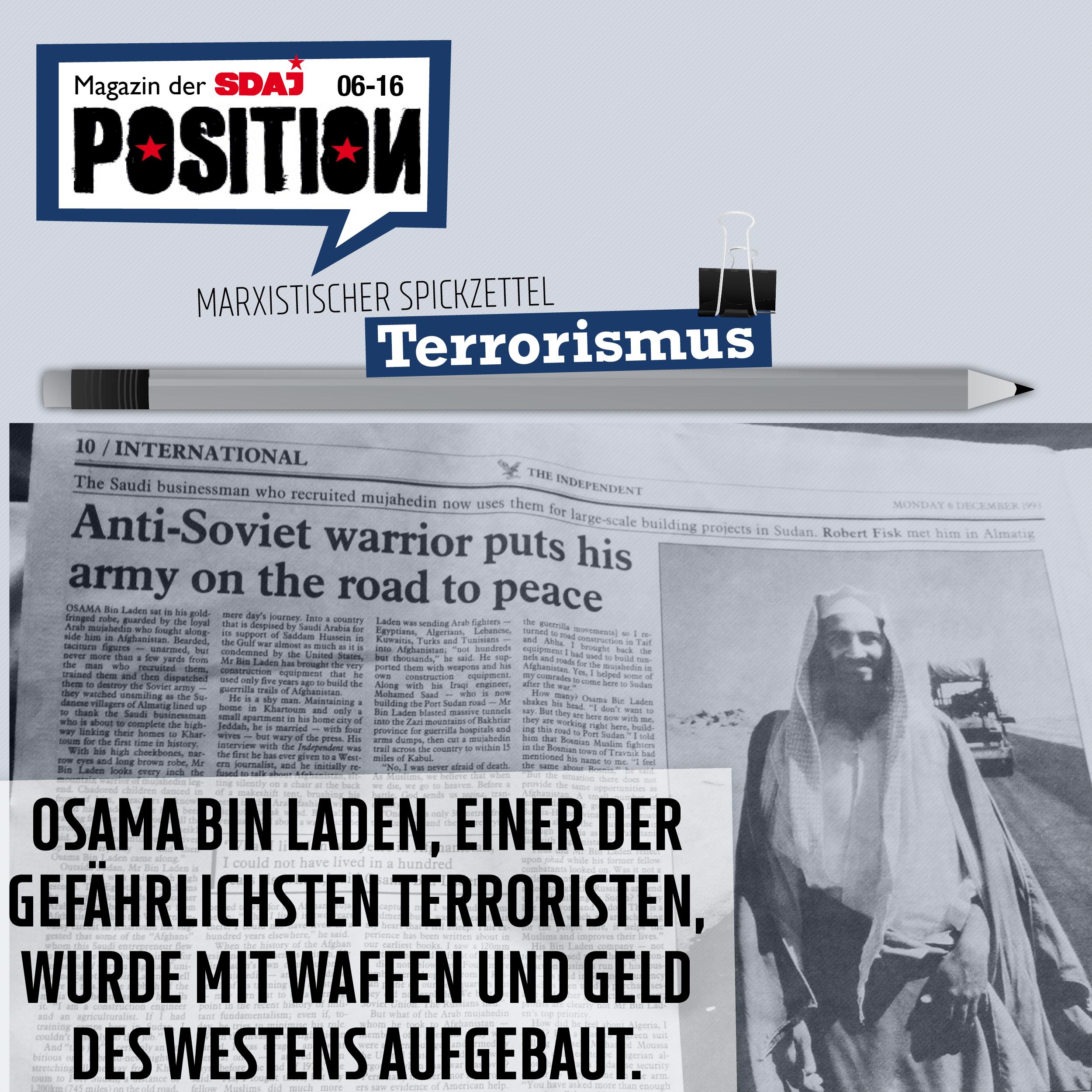 """Spickzettel: """"Terrorismus"""""""