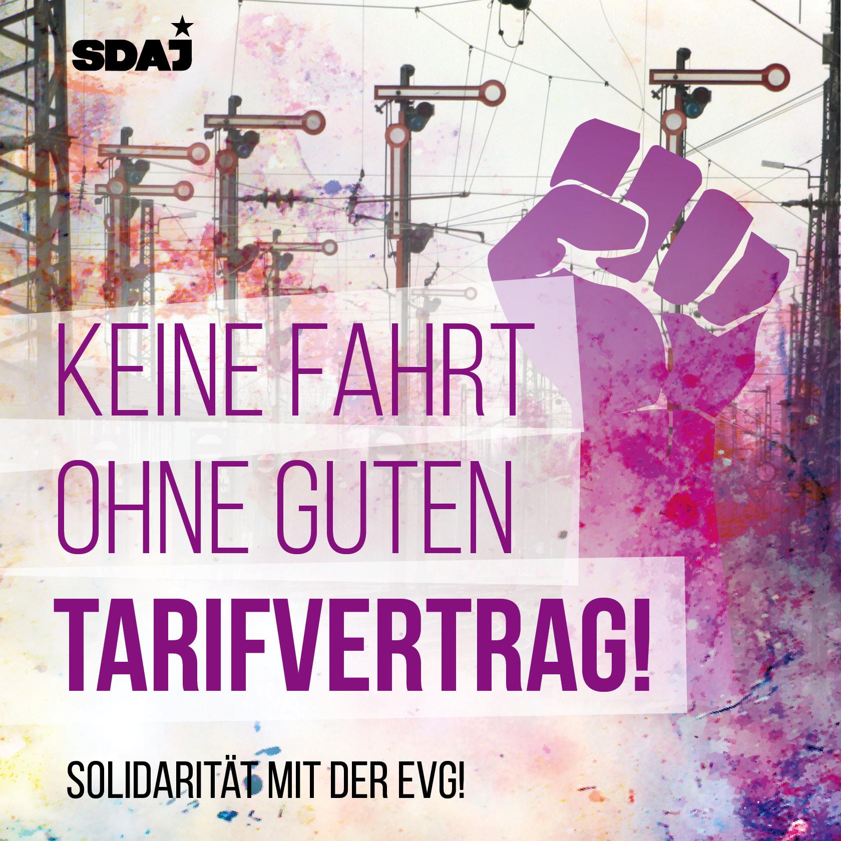 Solidarität mit der EVG!
