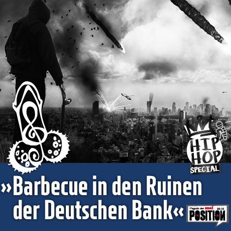 """Barbecue in den Ruinen der Deutschen Bank"""