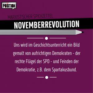 Marxistischer Spickzettel: Novemberrevolution