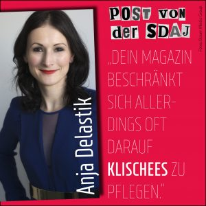 Der Offene Brief an Anja Delastik (Cosmopolitan)