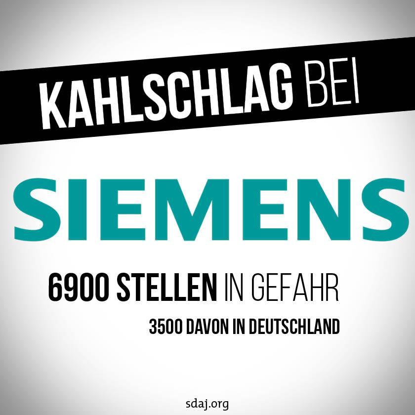 Kahlschlag bei Siemens