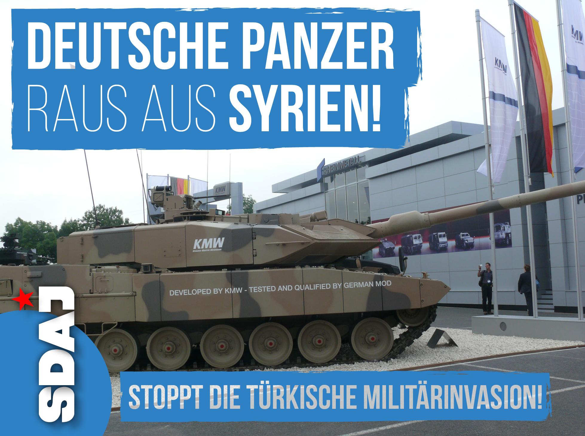 Frieden für Syrien! Türkische Militärinvasion stoppen!