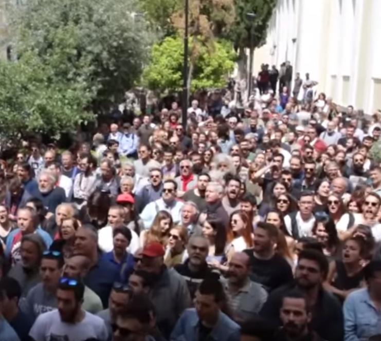 Solidarität mit den Anti-Kriegsaktionen in Athen!
