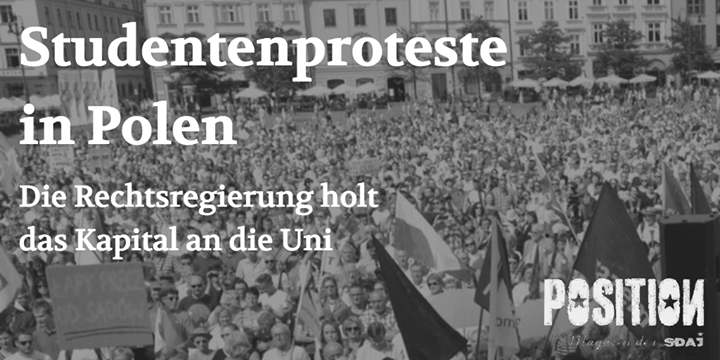 Studentenproteste in Polen (POSITION  #3/18)…