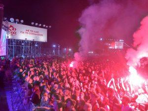 Zu den Konzerten auf dem KNE-Festival kommen seit jeher die bekanntesten Künstler aus dem ganzen Land