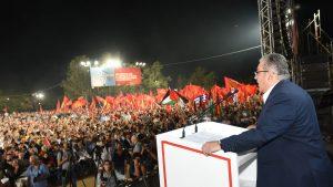 Die Rede des Generalsekretärs des ZK der KKE, Dimitris Koutsoumpas, war der Höhepunkt der Feierlichkeiten