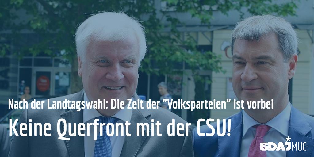 In Bayern sind die erste Prognosen draußen: CSU 35.5%, Grüne 18.5%, FreieWähle 1…