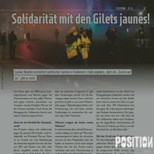Solidarität mit den Gilets jaunes! (POSITION 5/18)