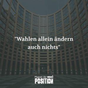 """""""Wahlen allein ändern auch nichts"""" (POSITION #1/19)…"""