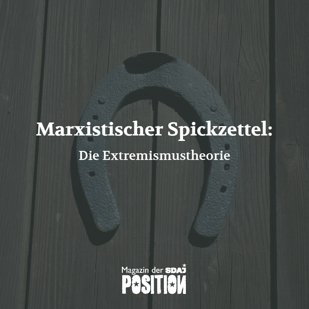 Die Extremismustheorie (POSITION #5/18)…