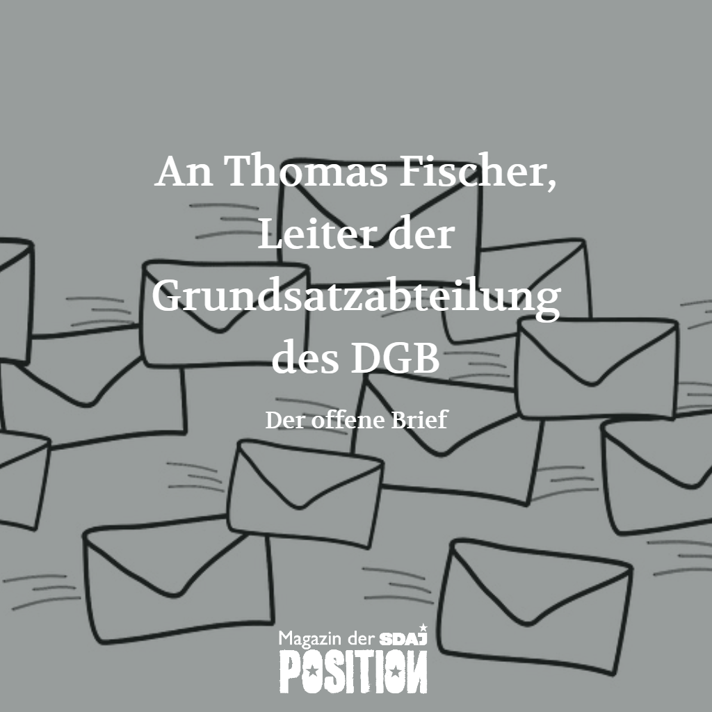 Der offene Brief (POSITION #01/19)…