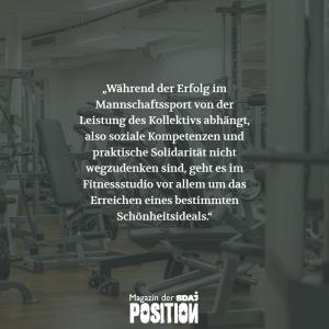 Fitnessstudio statt Bolzplatz (POSITION #02/19)…
