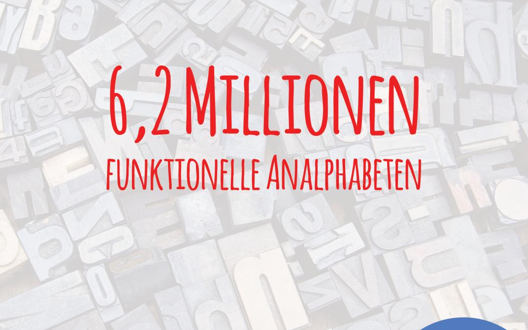 6,2 Millionen funktionelle Analphabeten in Deutschland
