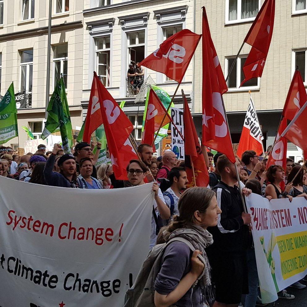 Antikapitalistischer Block bei FFF in Aachen