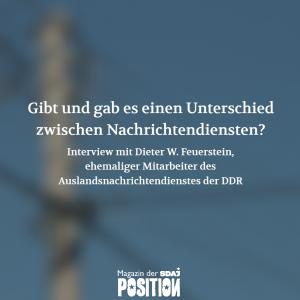 Dieter W. Feuerstein – Kundschafter im Westen (POSITION #04/19)