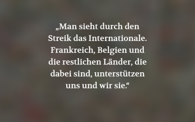 Internationale Solidarität gegen internationale Ausbeutung (POSITION #05/19)