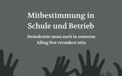 Mitbestimmung in der Schule und im Betrieb (POSITION #05/19)