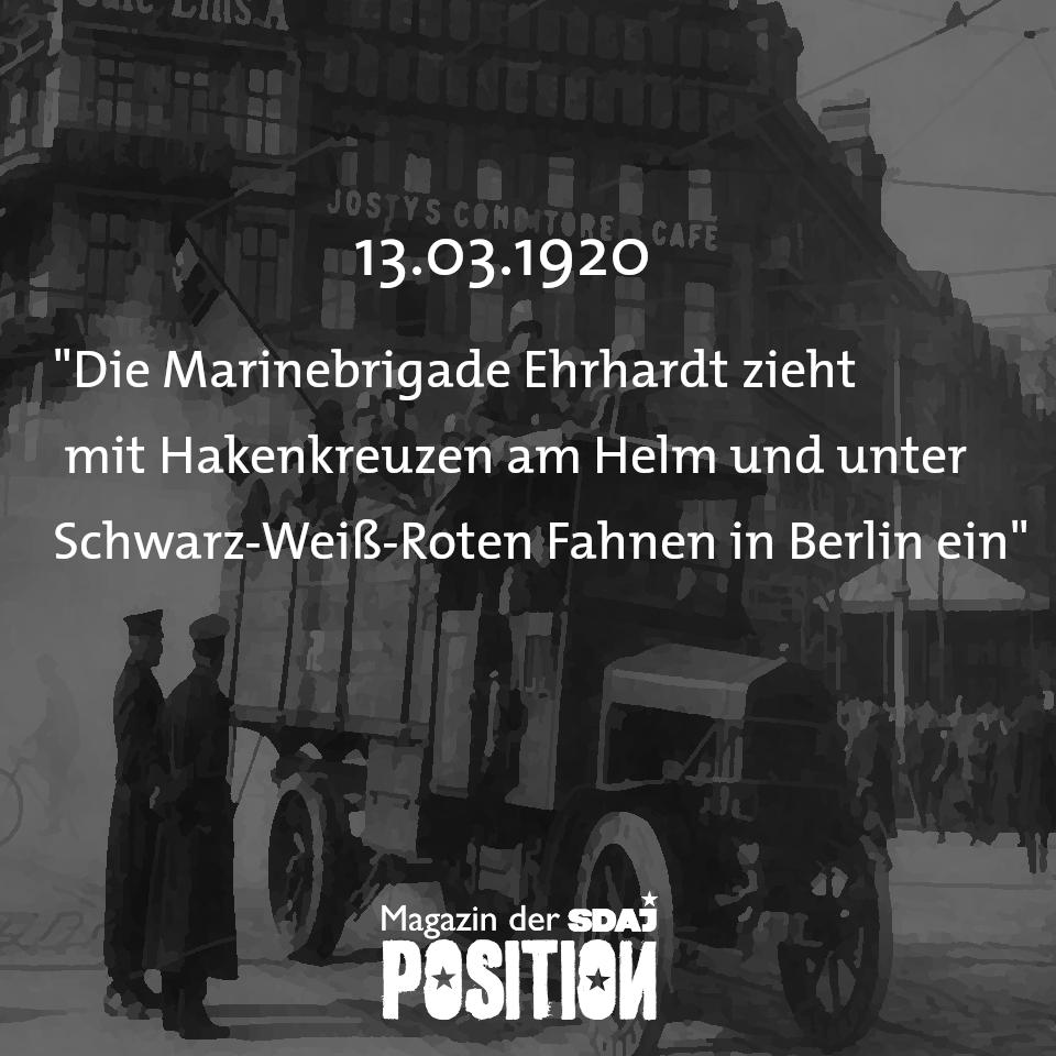 """""""Es muss gehandelt, nicht verhandelt werden!""""- Hintergründe zum Kapp-Putsch 1920"""