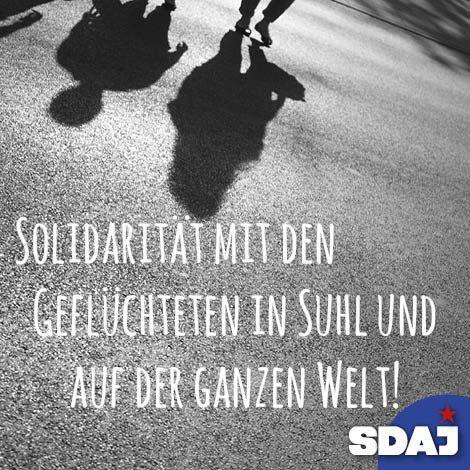 Solidarität mit den Geflüchteten in Suhl und auf der ganzen Welt!