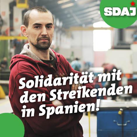 Solidarität mit den streikenden Arbeiterinnen und Arbeitern von Mercedes in Spanien!