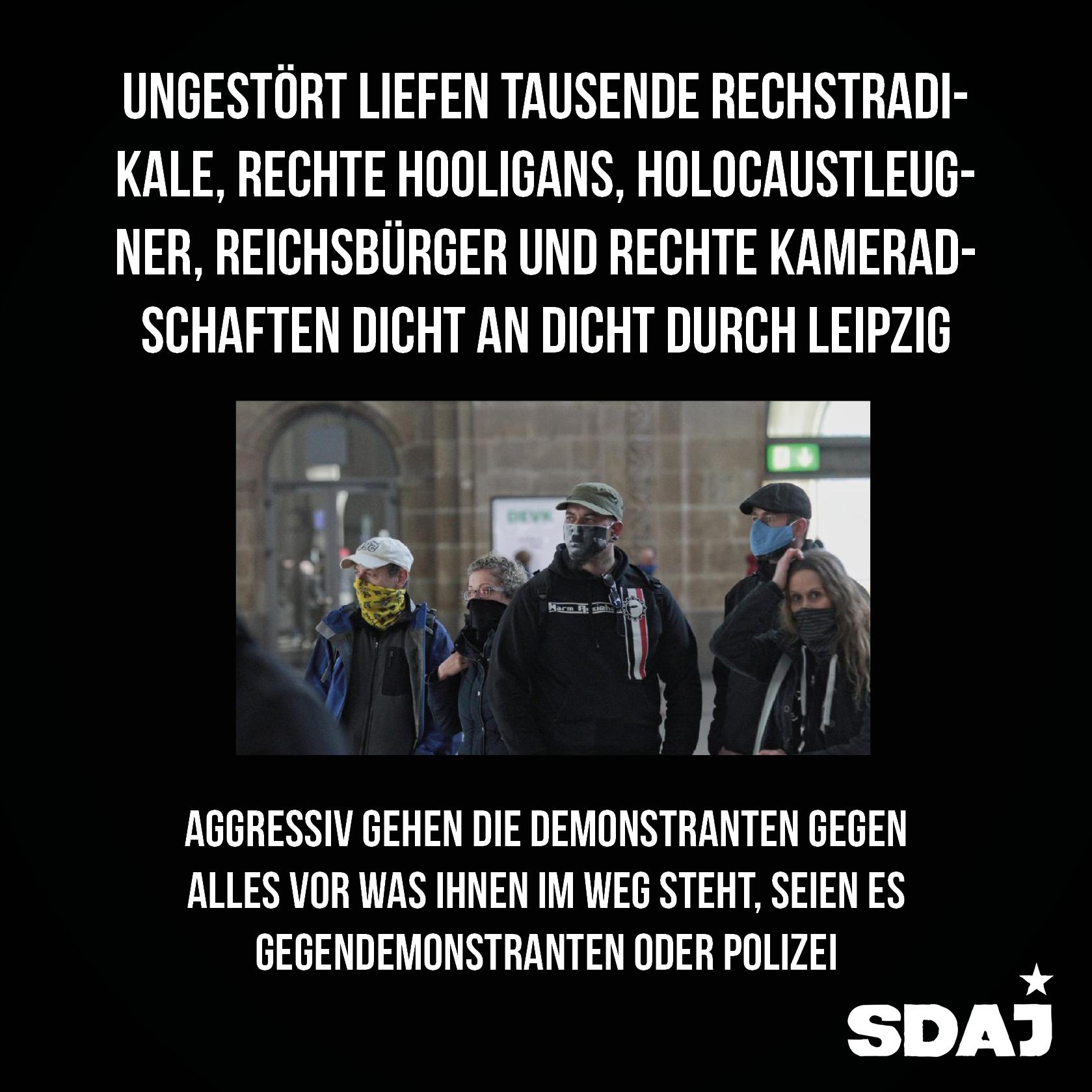 """Radikalisierung mit Ansage – ein Kommentar zur """"Querdenken-Demo"""" in Leipzig"""