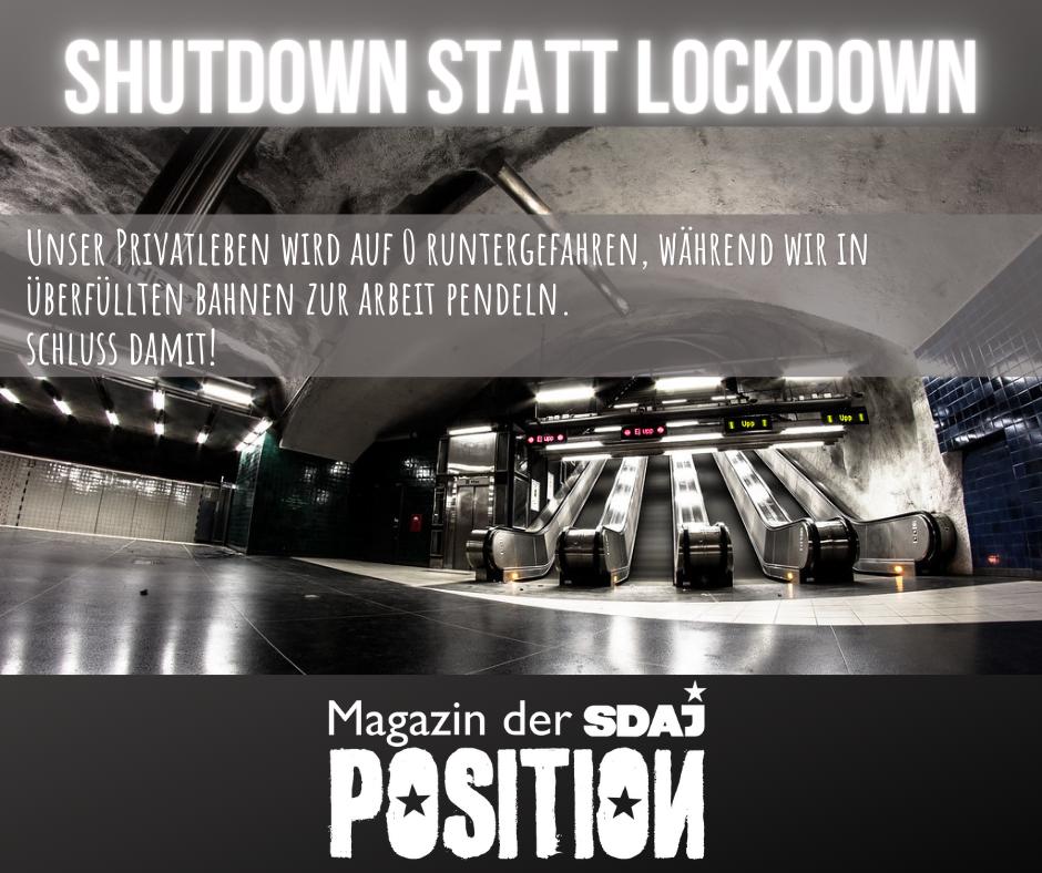 Shutdown statt Lockdown