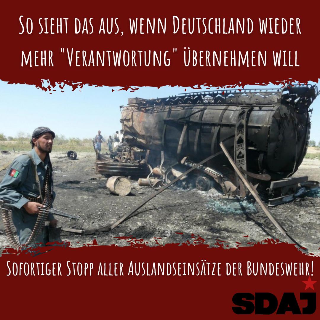 Sofortiger Stopp aller Auslandseinsätze der Bundeswehr!