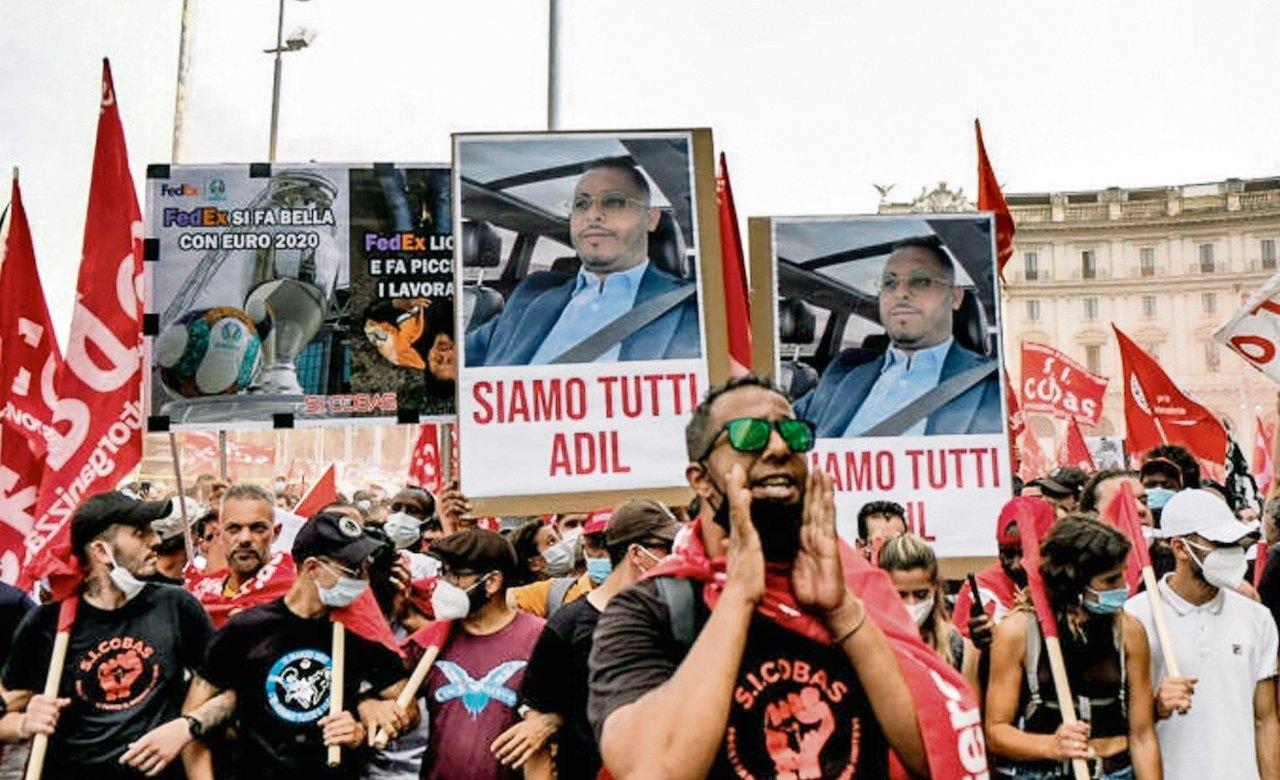 Solidarität mit den Streikenden in Italien – in Gedenken an Adil Belakhdim!