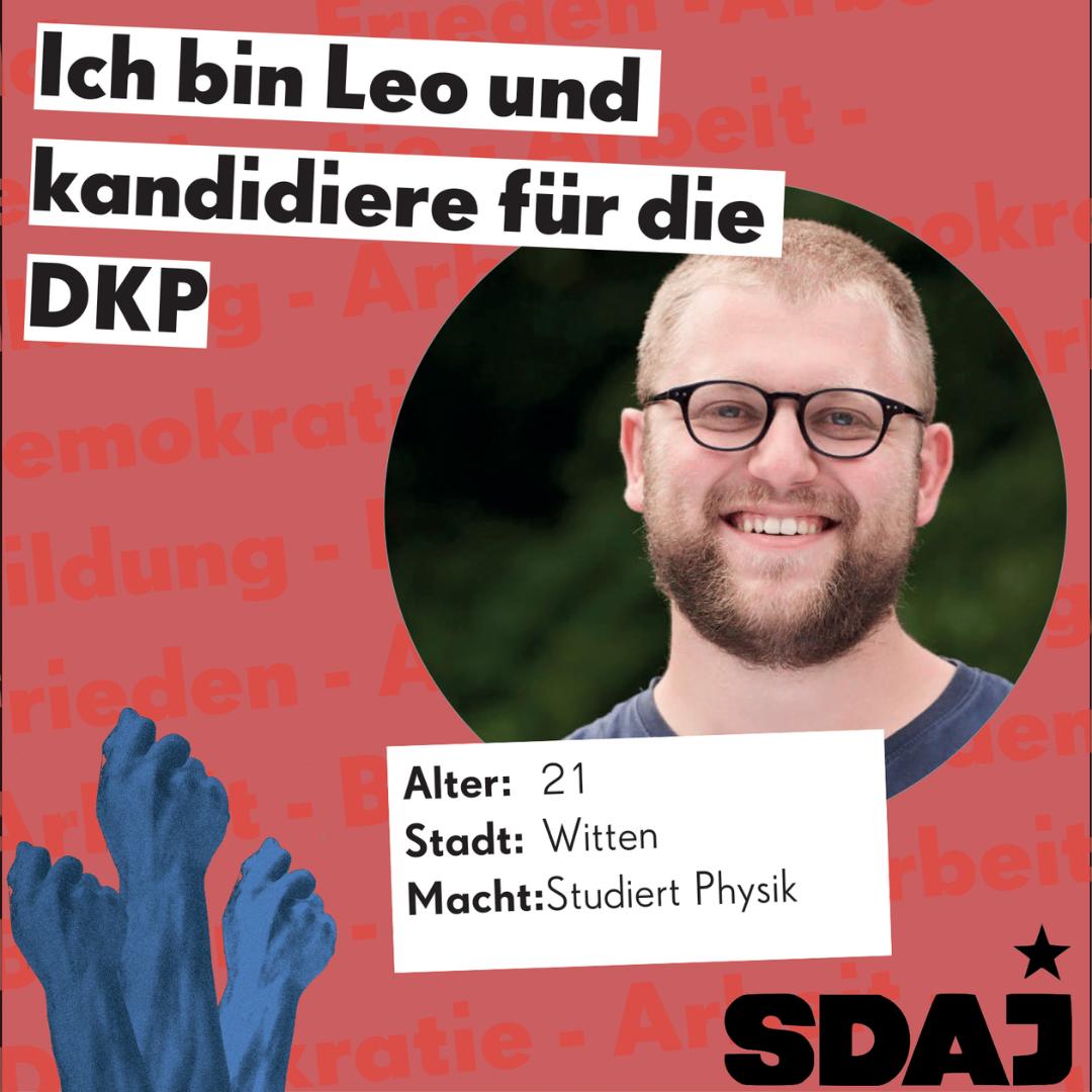 Jungkandidat*innenvorstellung zur Bundestagswahl: Leo