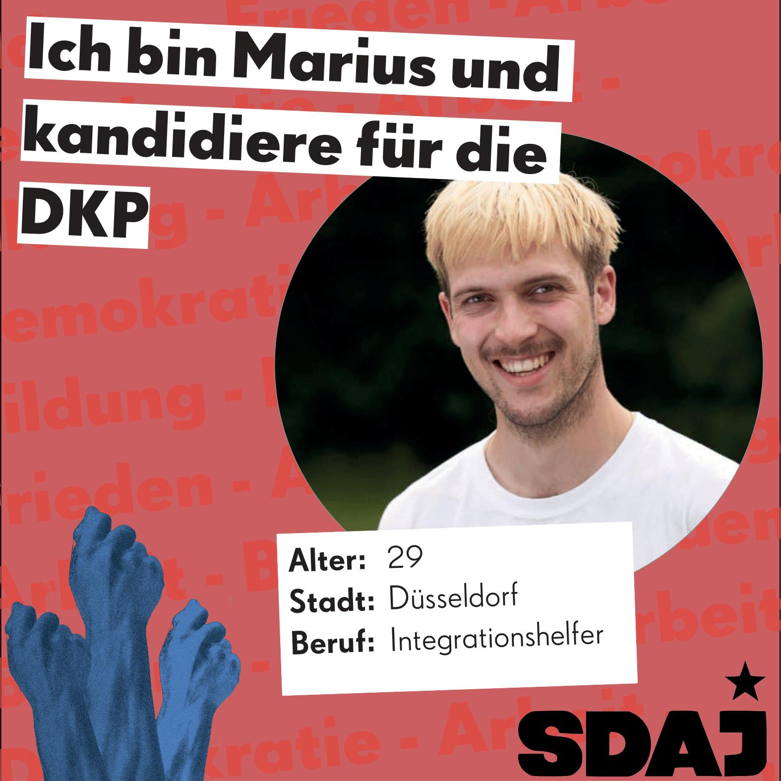 Jungkandidat*innenvorstellung zur Bundestagswahl: Marius