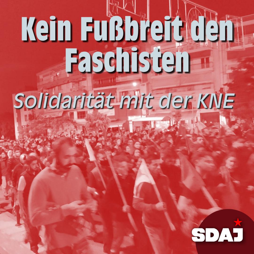 Solidarität mit der KNE – Kein Fußbreit dem Faschismus!